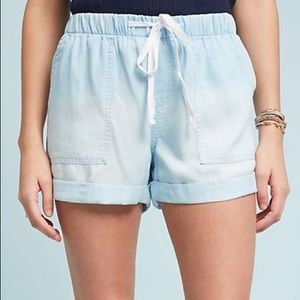 Anthropologie Cloth and Stone Chambray Shorts